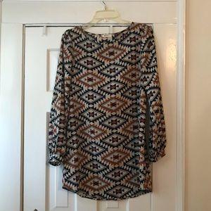 Medium Everly Dress with Geometric Pattern